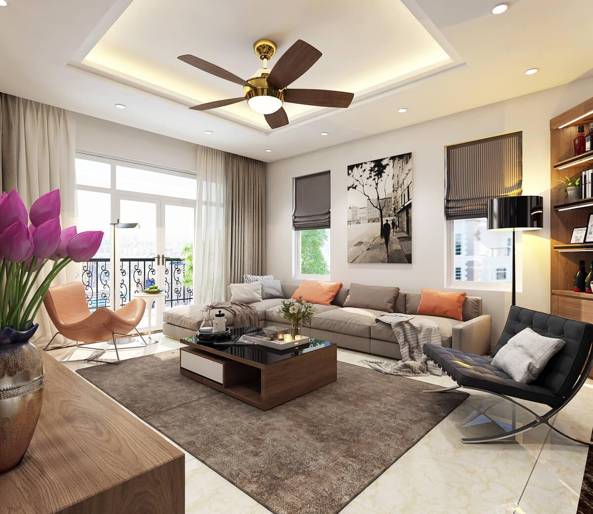 Phòng khách chung cư đẹp – Bí quyết sở hữu phòng khách ấn tượng ai cũng mê