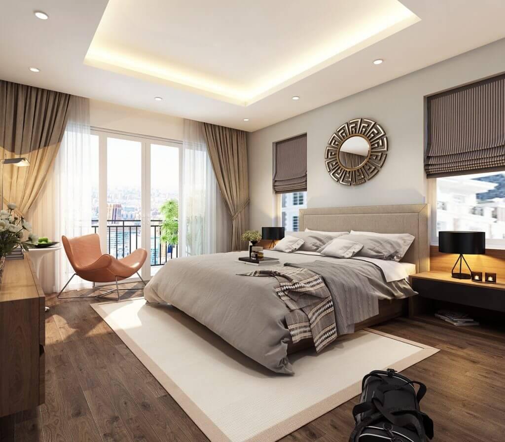 Cách bố trí nội thất đồ gỗ phòng ngủ đơn giản