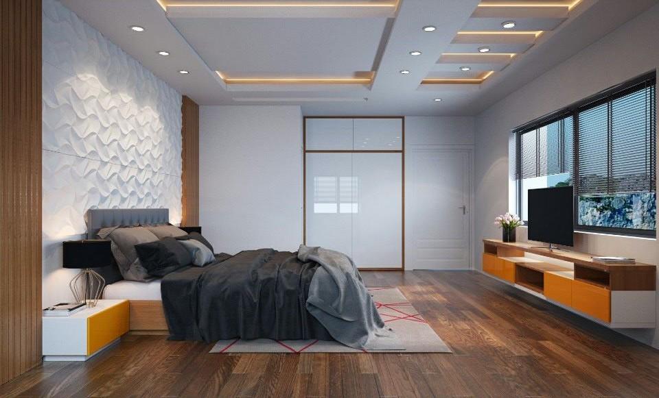 Tủ quần áo gỗ công nghiệp thiết kế âm tường