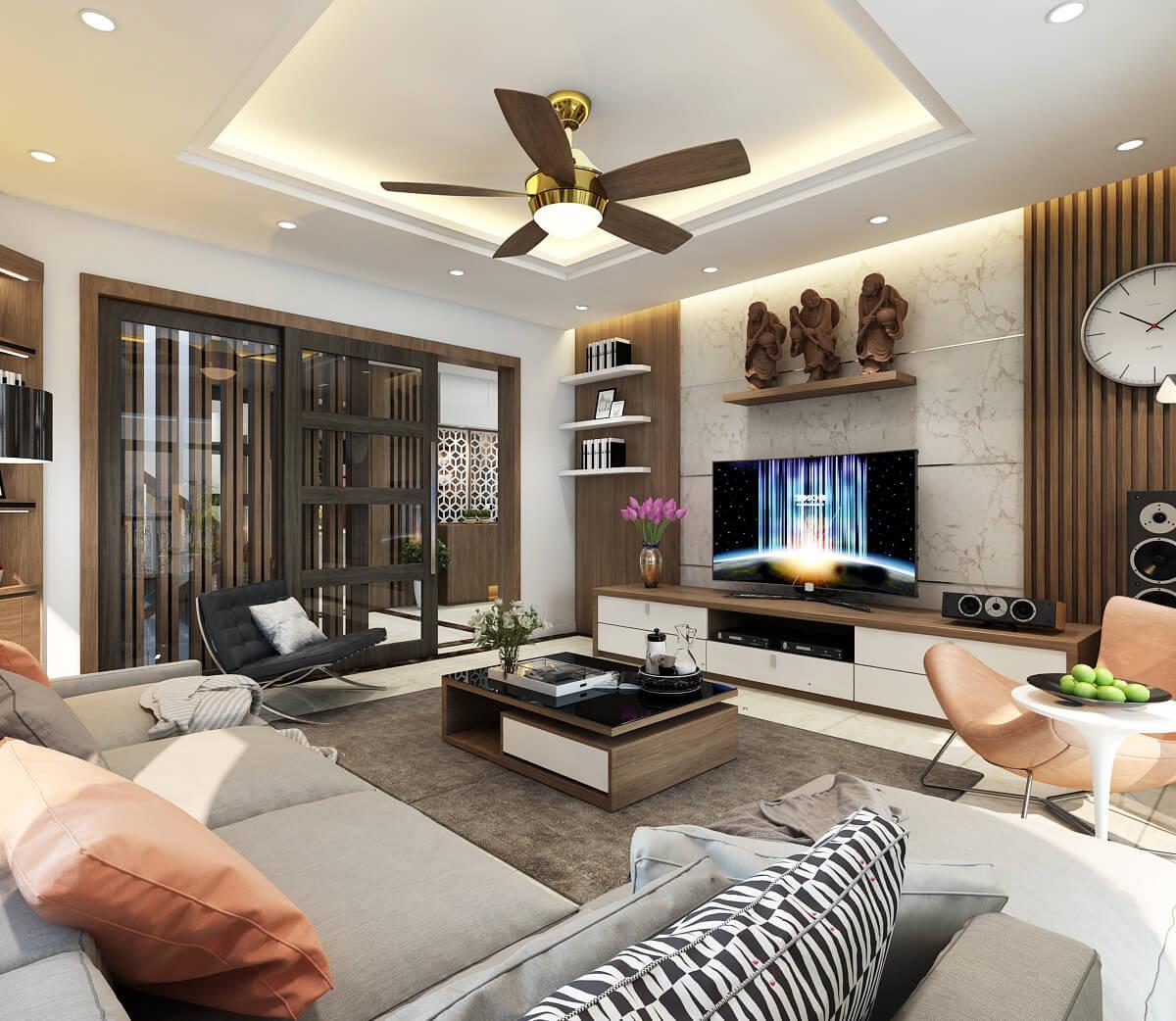 Những lợi ích từ dịch vụ thiết kế phòng khách chung cư