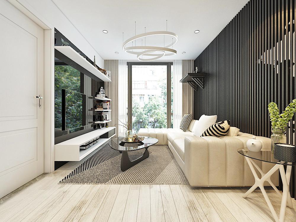 Mẫu thiết kế nội thất chung cư theo phong cách Mỹ