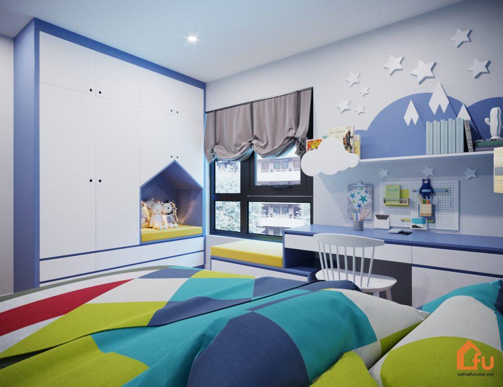 Nội thất căn hộ chung cư cao cấp Gold Silk hiện đại, trẻ trung1