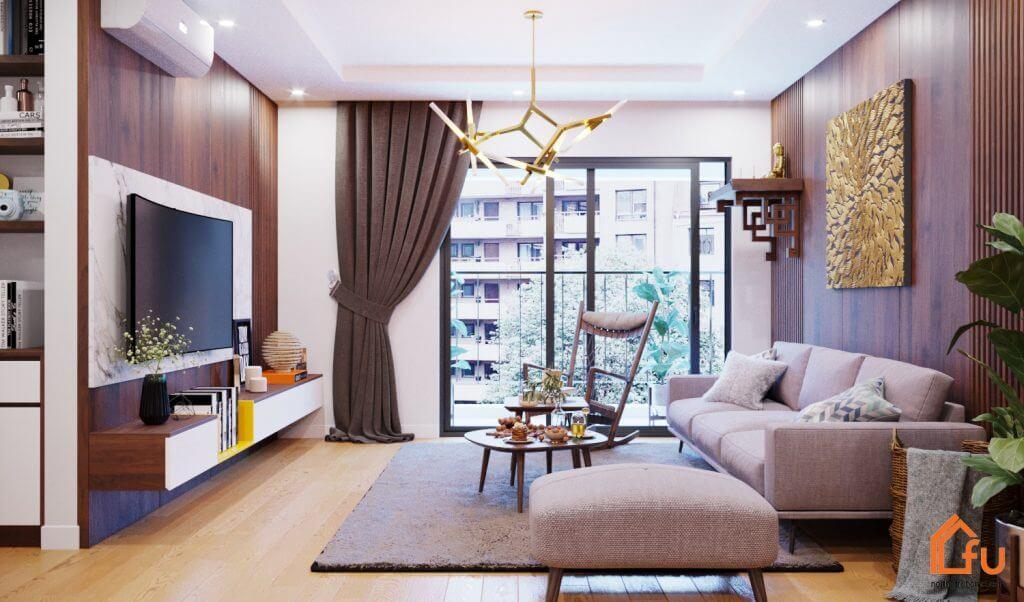 Phong cách thiết kế nội thất chung cư theo gam màu ưa thích