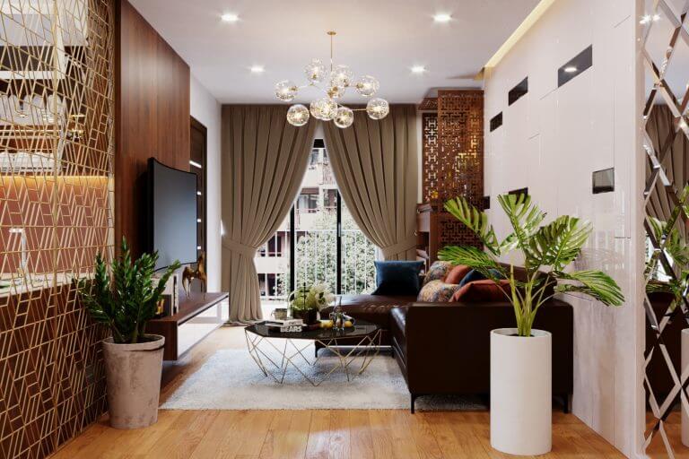 mẫu nội thất chung cư đẹp giữa lòng thủ đô Hà Nội 2