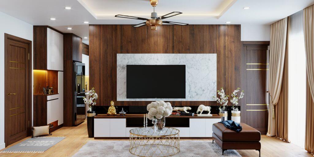 Một số mẫu thiết kế phòng khách chung cư đẹp 2