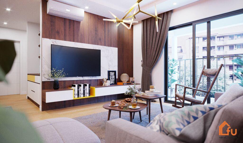 Phong cách thiết kế nội thất chung cư 100m2 đơn giản, tinh tế