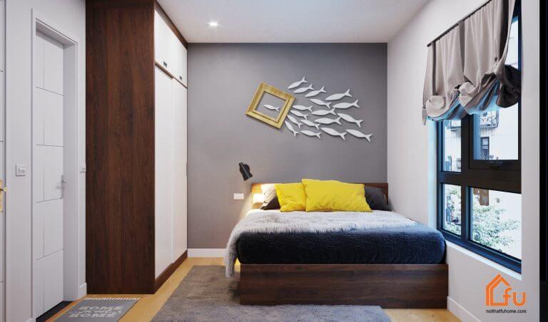 Thi công phòng ngủ chung cư Gold Silk Anh Hiếu Hà Đông
