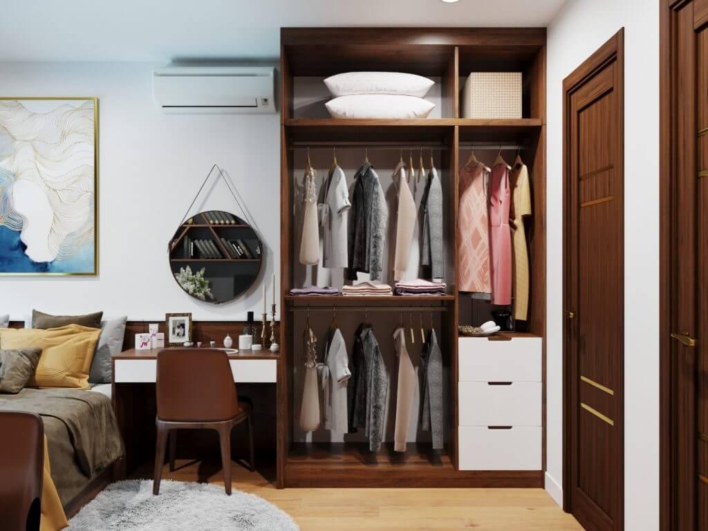 Những mẫu tủ quần áo gỗ công nghiệp tốt nhất hiện nay 1