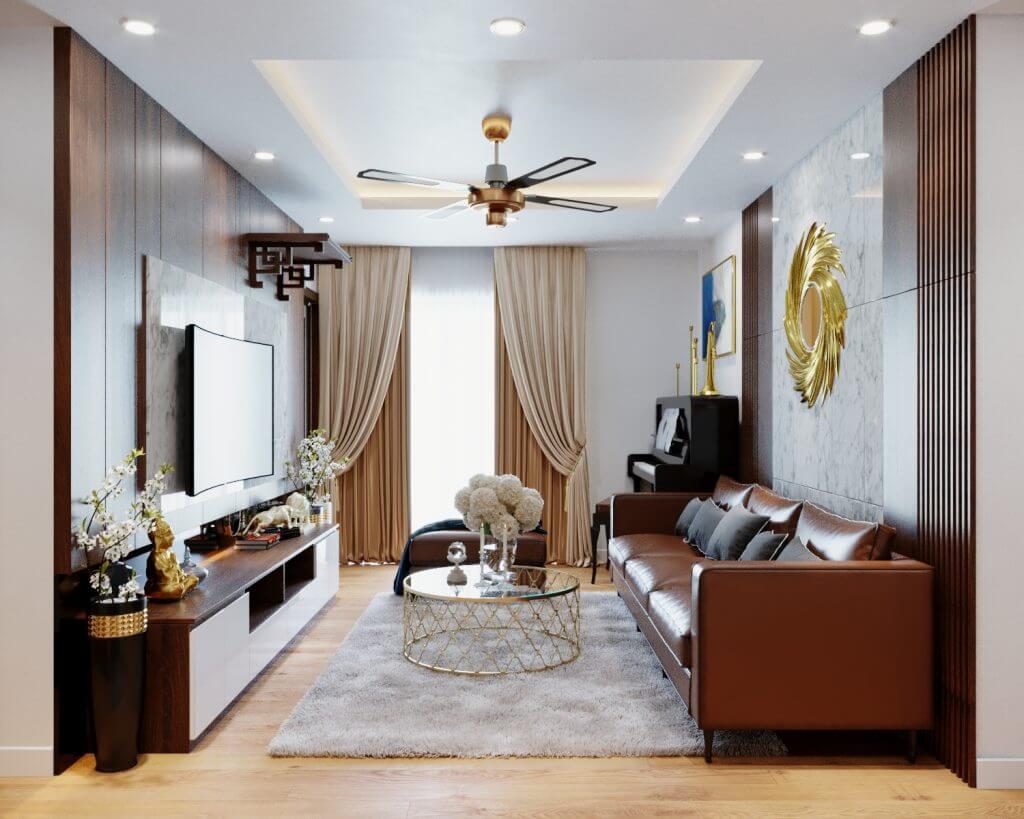 Mẫu thiết kế nội thất chung cư 100m2 đang được ưa chuộng