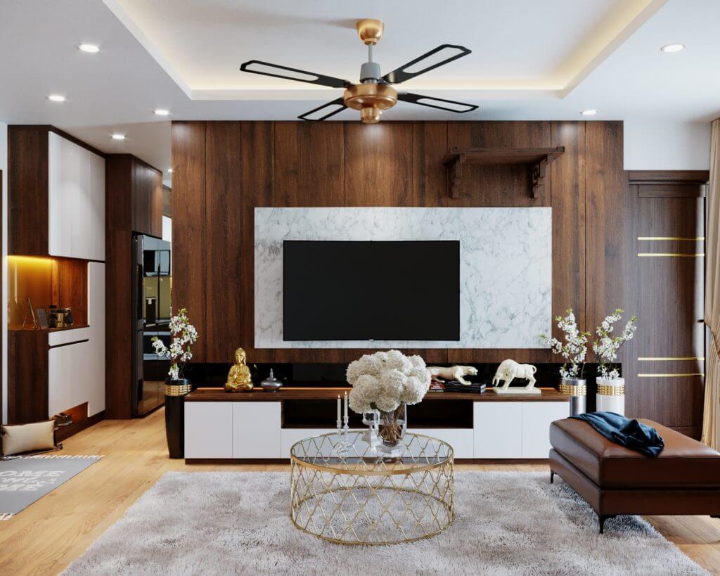 Mẫu thiết kế nội thất chung cư giá rẻ phong cách tân cổ điển