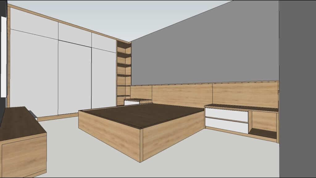 thiết kế nội thất biệt thự bản vẽ 3d