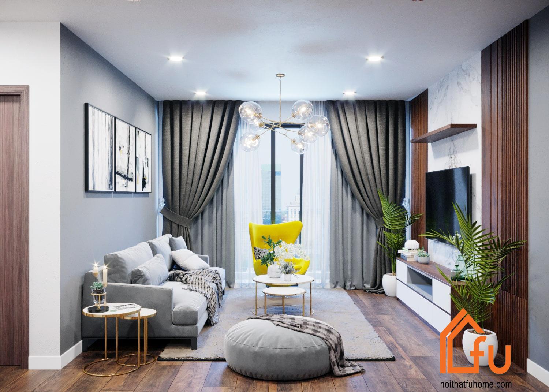 Thiết kế nội thất chung cư 45m2 đẹp như mong muốn với Nội thất Fuhome