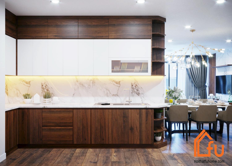 Tủ bếp gỗ công nghiệp An Cường – Những mẫu tủ bếp đẹp, hiện đại nhất 2019