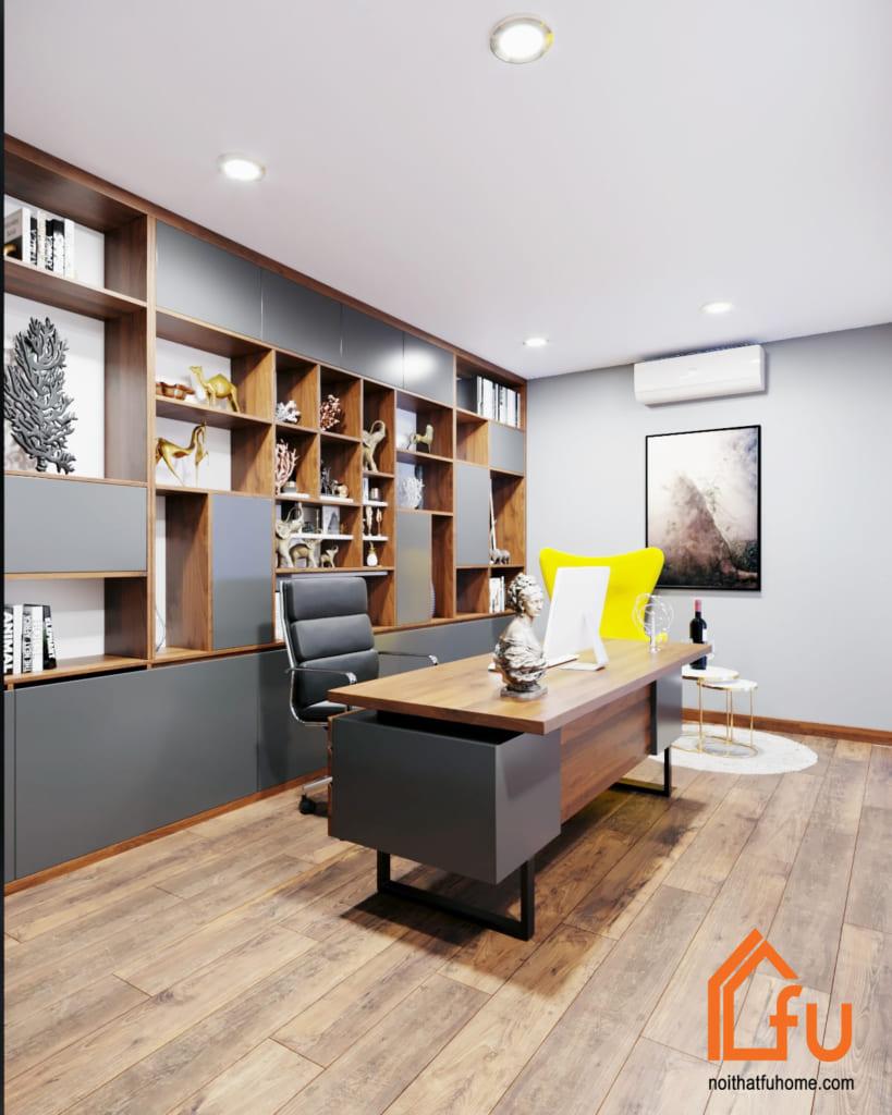 Mẫu nội thất gỗ công nghiệp cao cấp dùng trong phòng làm việc