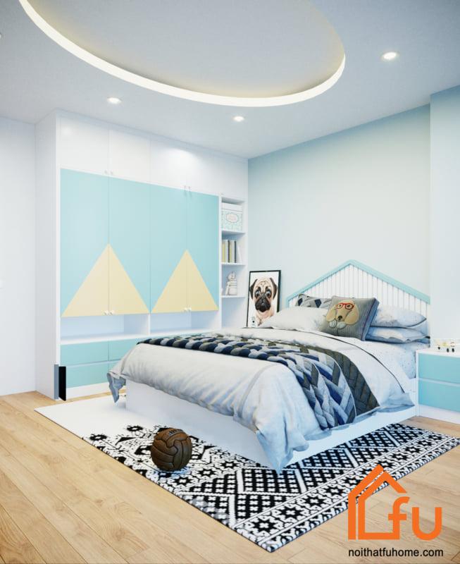 thiết kế thi công nội thất nơi ngủ của bé