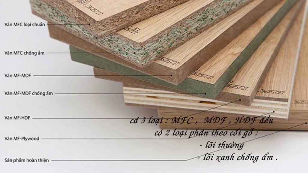 Các loại gỗ thường dùng trong thi công nội thất gỗ công nghiệp