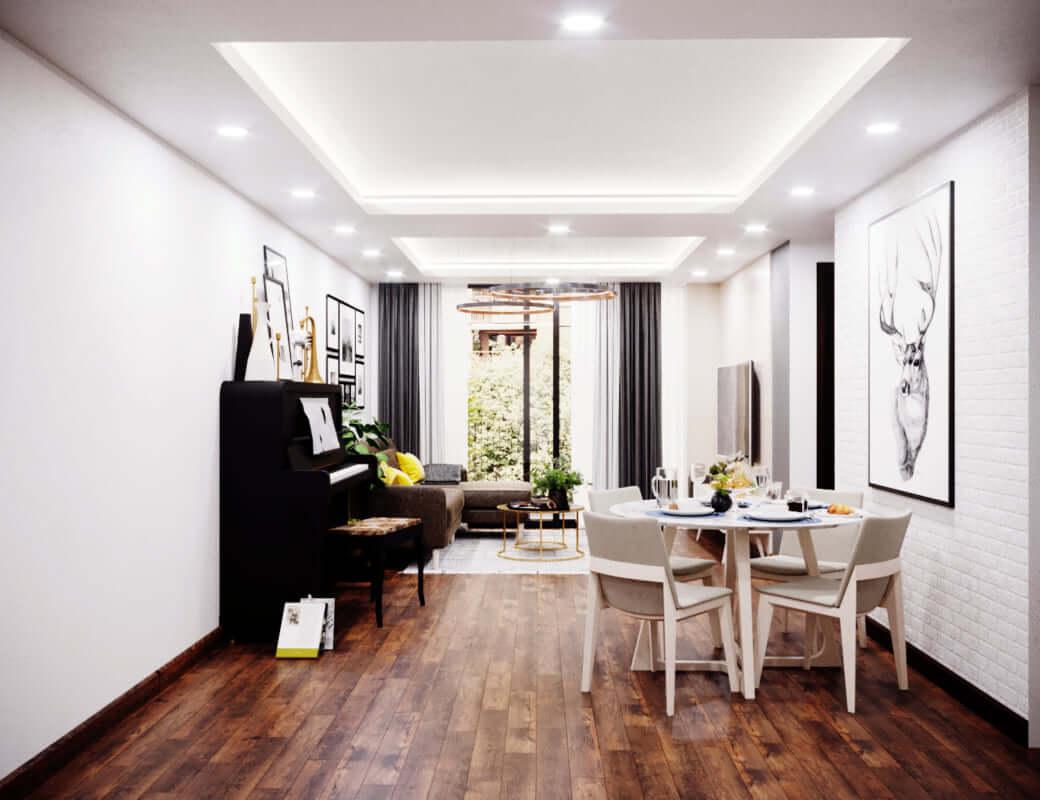 Thiết kế nội thất căn hộ chung cư 70m2 phong cách hiện đại