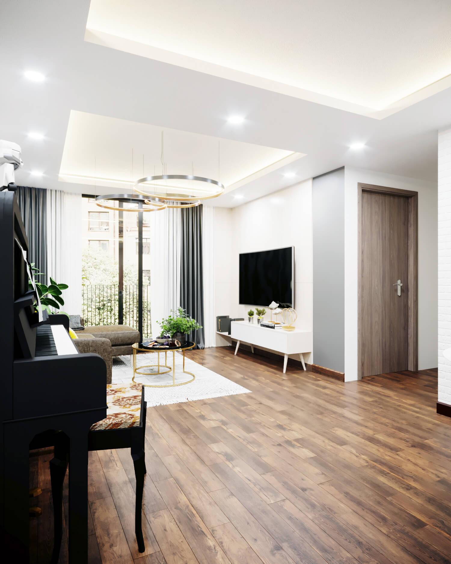 Mẹo nhỏ cho thiết kế nội thất chung cư 45m2 khoa học, bắt kịp xu thế