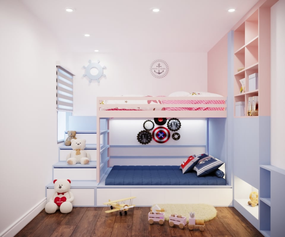 thiết kế nội thất chung cư 2 phòng ngủ 111