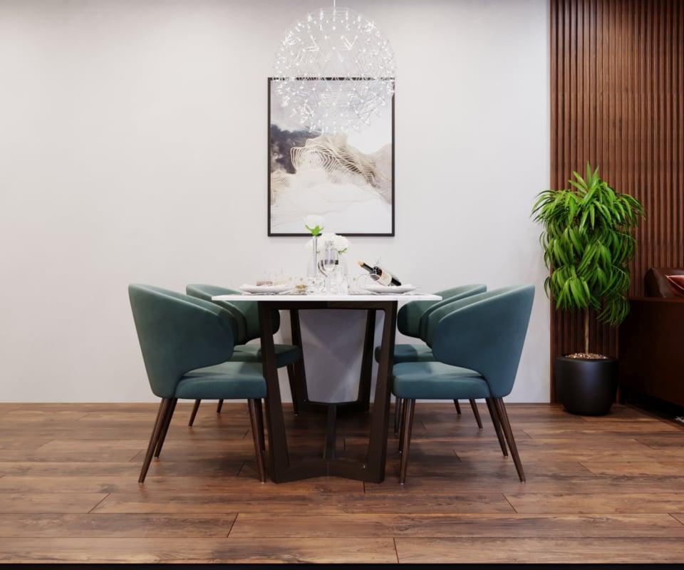 Mẫu thiết kế bếp chung cư có diện tích nhỏ mang phong cách tân cổ điển