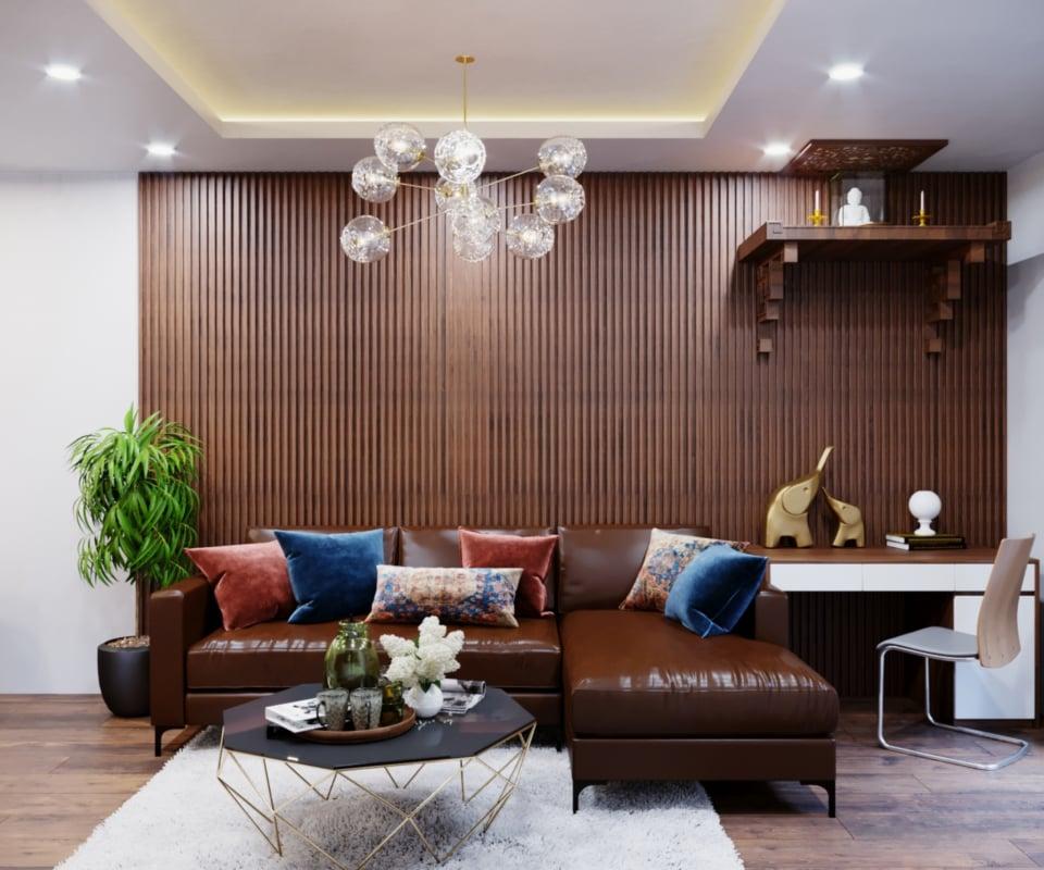 Nội thất chung cư gỗ An Cường phòng khách - Nội thất Fuhome