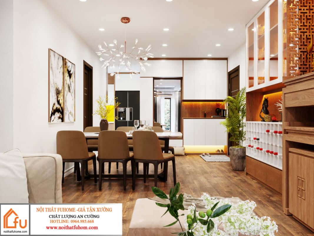 thiết kế nội thất căn hộ hiện đại 1