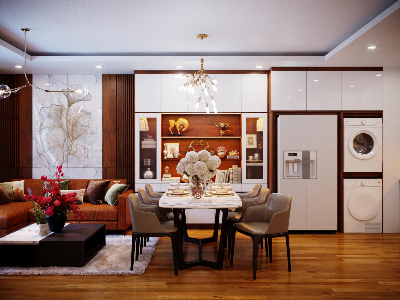 Những mẫu thiết kế nội thất chung cư 80m2 đẹp nhất 2019