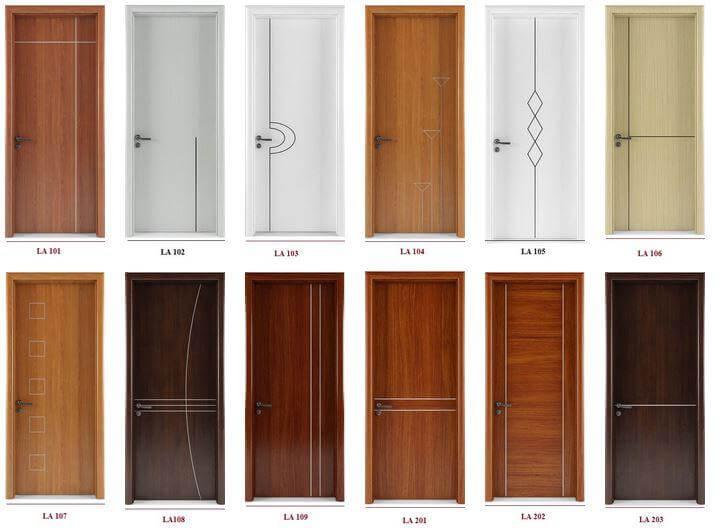 Có nhiều loại cửa gỗ công nghiệp khác nhau cho bạn lựa chọn