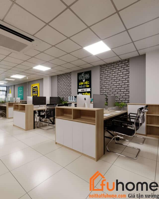 Thiết kế nội thất văn phòng theo phong cách hiện đại