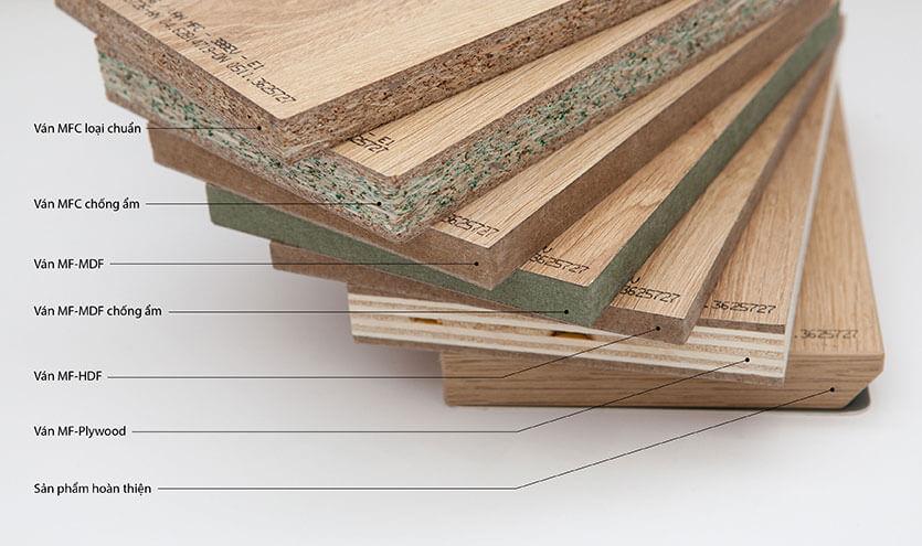 Nhận biết gỗ công nghiệp MFC và MDF