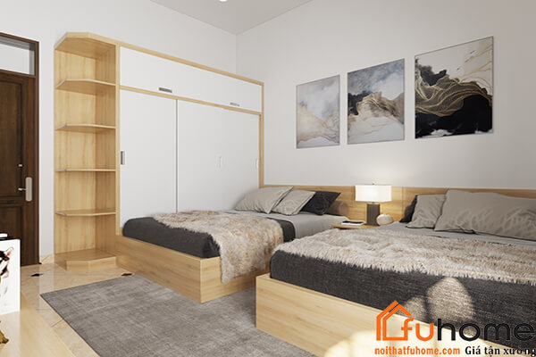 Nội thất Fuhome - Thiết kế thi công tủ áo gỗ công nghiệp giá rẻ