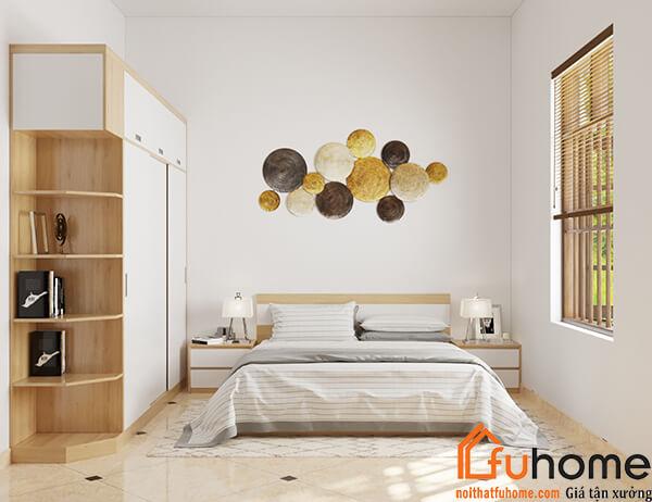 Thiết kế nội thất phòng ngủ với màu trắng chủ đạo
