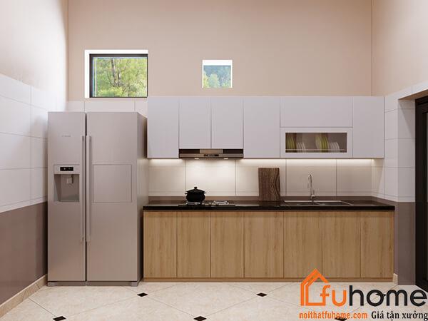 Thiết kế nội thất phòng bếp nhà chị Lệ tại Ecopark 1