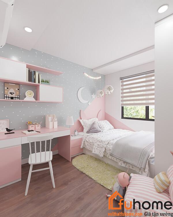 Thiết kế căn hộ chung cư 65m2 phòng ngủ theo phong cách hiện đại
