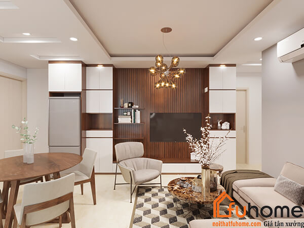 Mẫu thiết kế nội thất căn hộ chung cư đẹp, hiện đại tại RubiCity