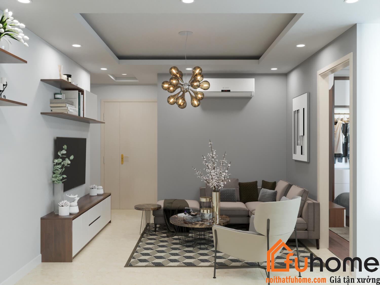 Nội thất Fuhome - Chuyên thiết kế căn hộ chung cư 56m2, 70m2, 90m2, 100m2,..