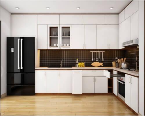 Tủ bếp gỗ công nghiệp chất lượng an Cường với kiểu dáng hiện đại