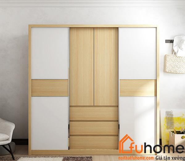 Một số mẫu tủ quần áo gỗ công nghiệp 4 cánh đẹp nhất hiện nay 2