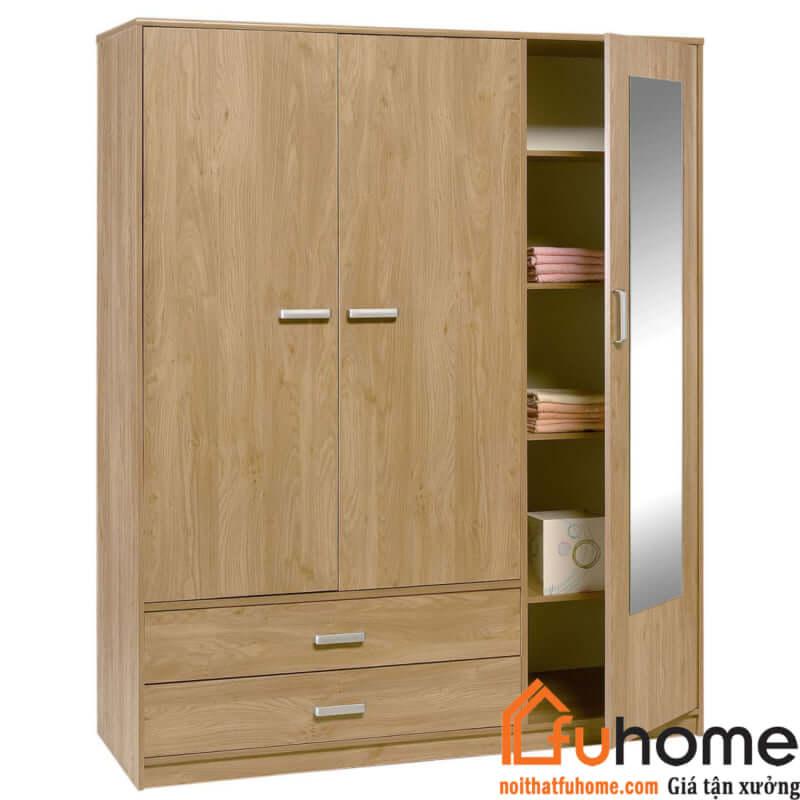 một số mẫu tủ quần áo 3 buồng gỗ công nghiệp 3