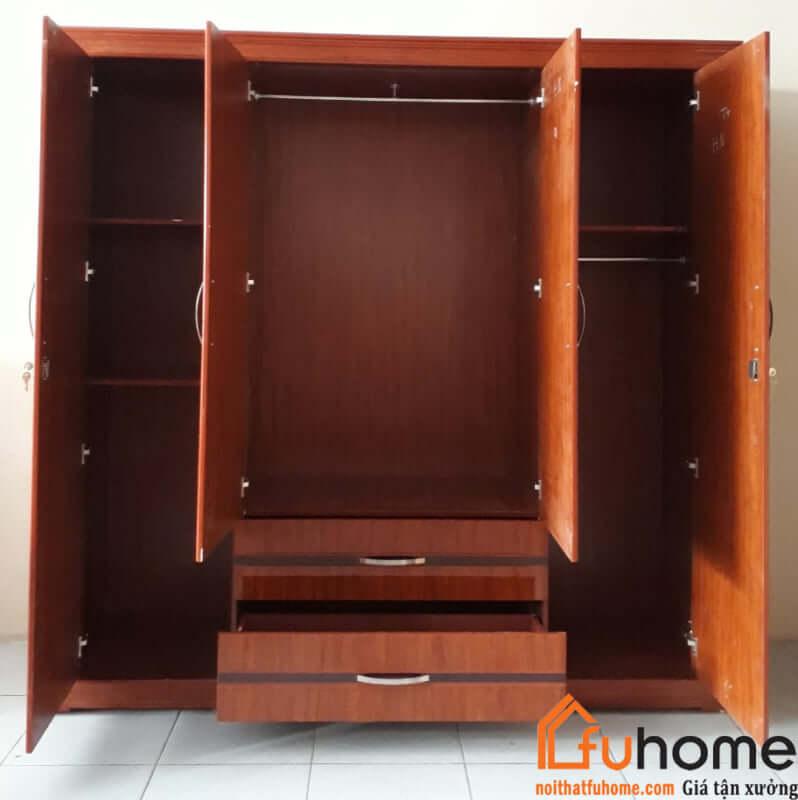 Tủ quần áo gỗ công nghiệp 3 buồng mang phong cách hiện đại