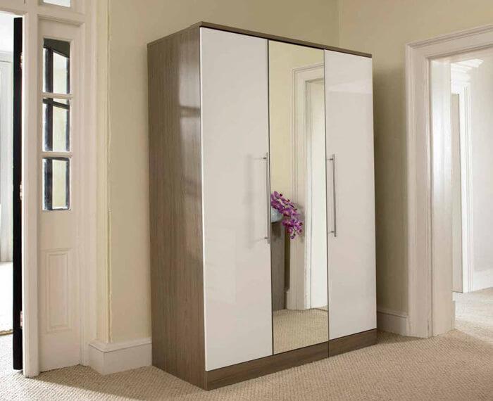 Tủ quần áo gỗ MDF được sử dụng nhiều trong thiết kế nội thất chung cư