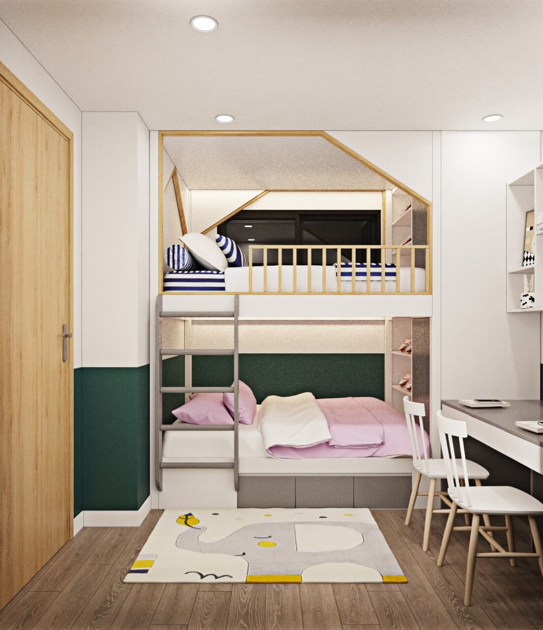 5 mẫu thiết kế nội thất chung cư 2 phòng ngủ đẹp, hiện đại, ấn tượng 8