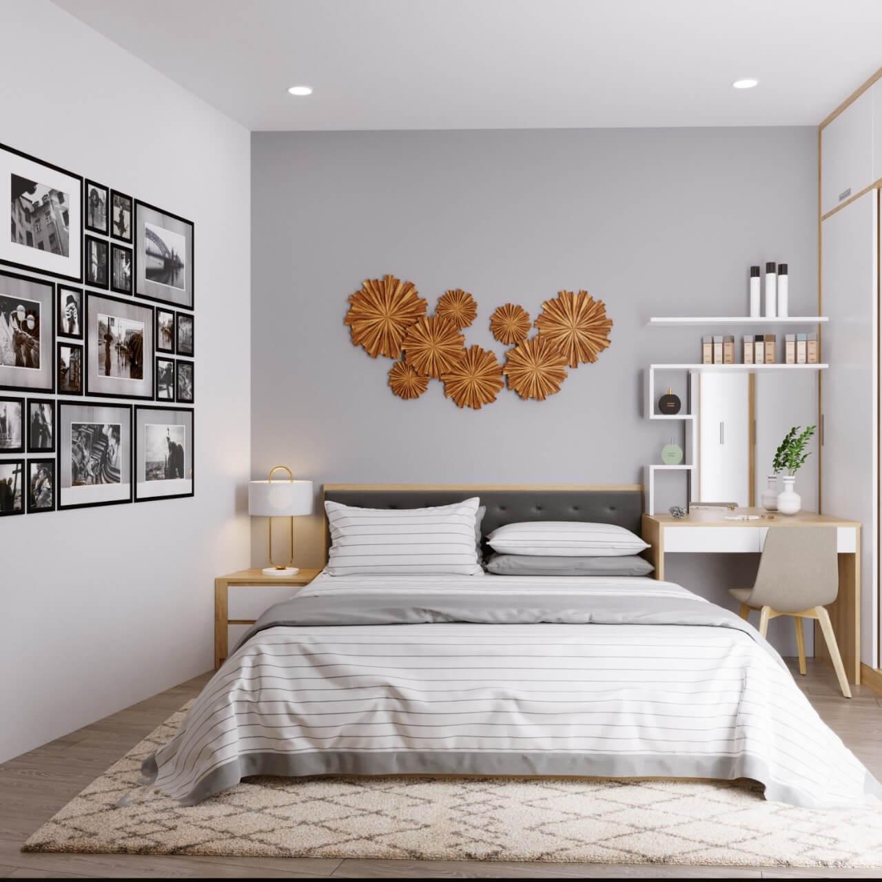 5 mẫu thiết kế nội thất chung cư 2 phòng ngủ đẹp, hiện đại, ấn tượng 9