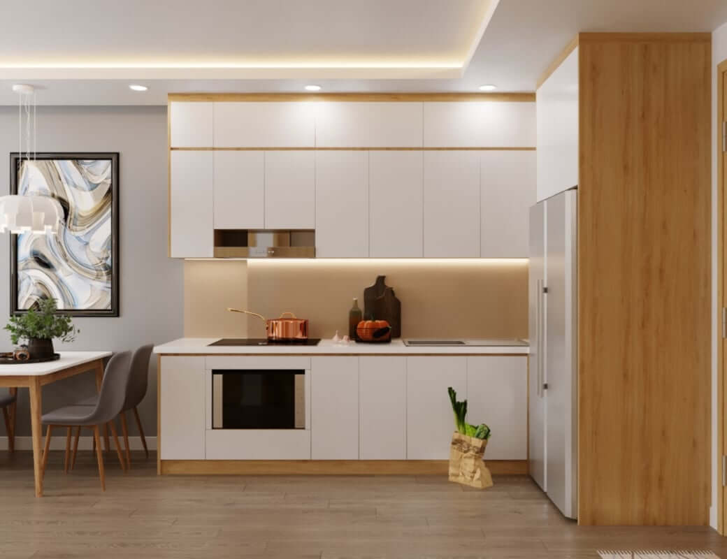 Phong cách thiết kế nội thất chung cư hiện đại cho phòng bếp