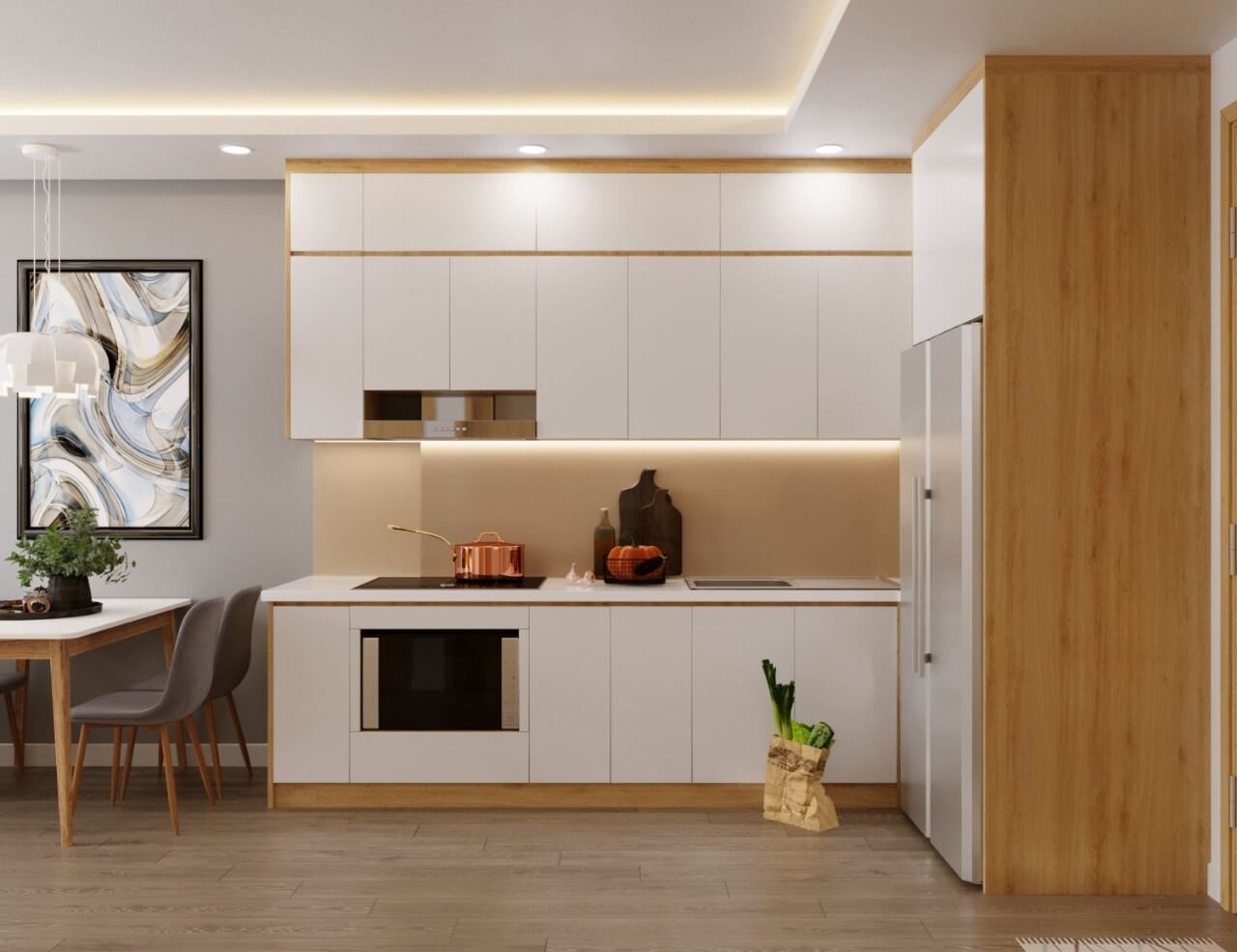 5 mẫu thiết kế nội thất chung cư 2 phòng ngủ đẹp, hiện đại, ấn tượng 7