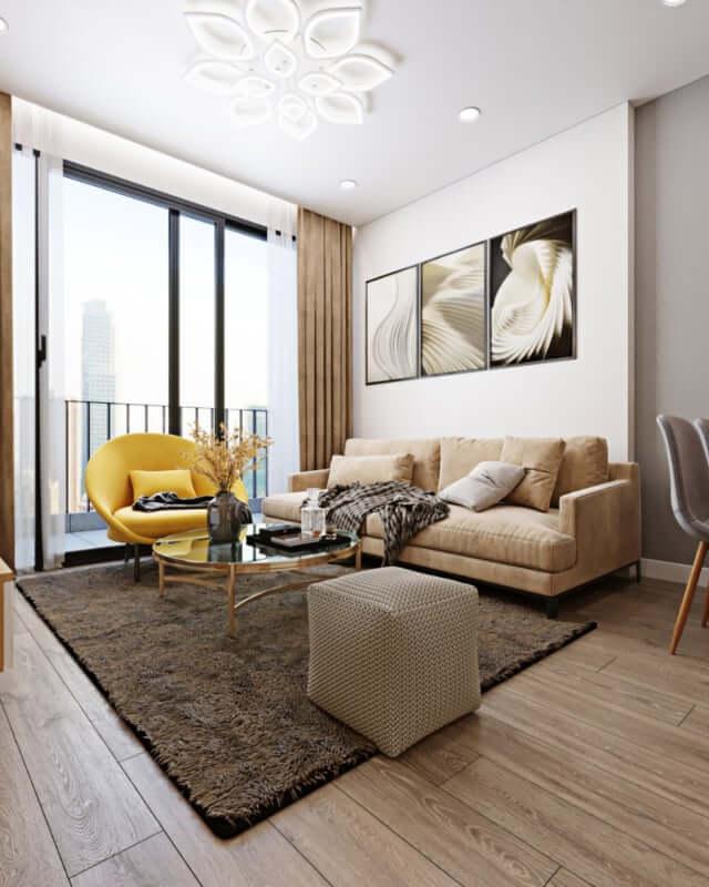 Thiết kế, thi công nội thất chung cư phòng khách tại Imperiaskygarden