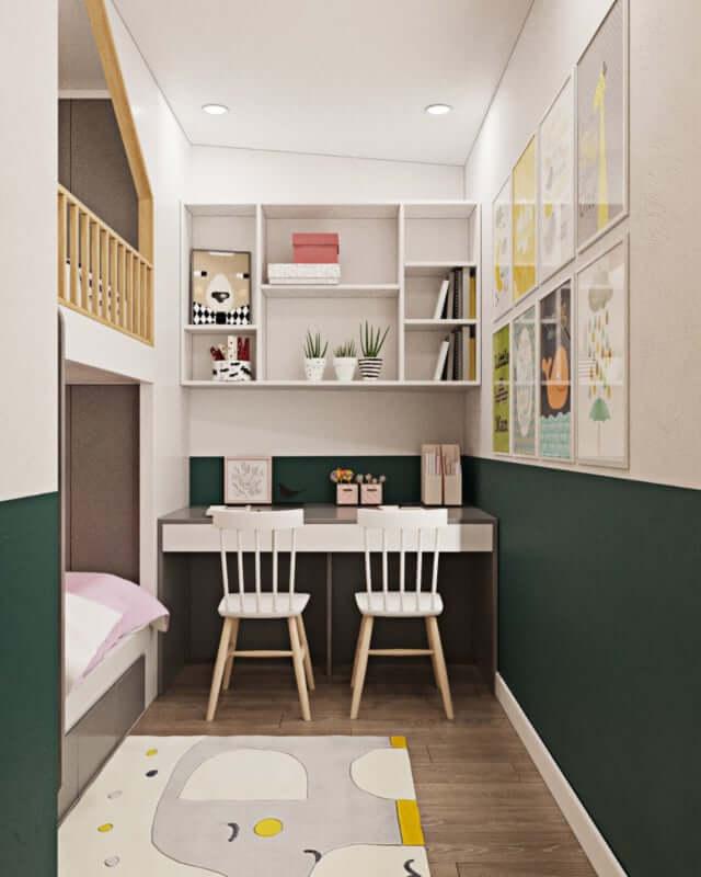 Thiết kế thi công nội thất chung cư phòng ngủ các con luôn được nhiều người chú trọng