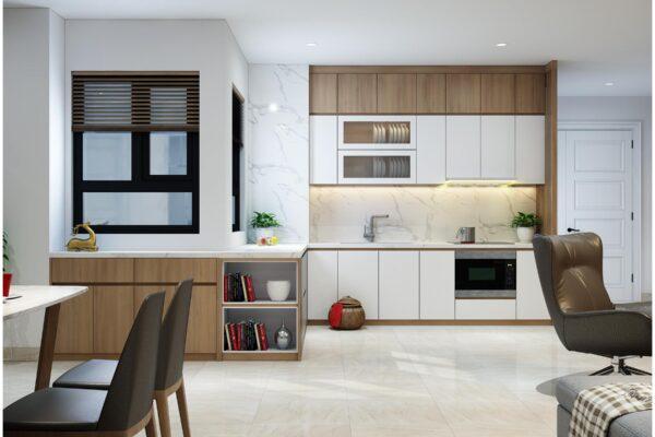 Một số mẫu thiết kế bếp chung cư đẹp, tiện nghi 5