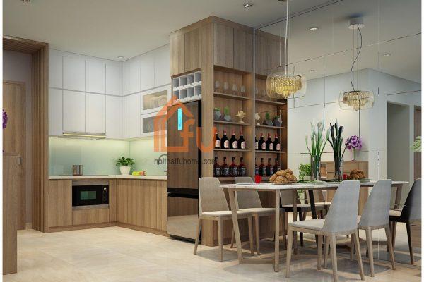 Một số mẫu thiết kế bếp chung cư đẹp, tiện nghi 9