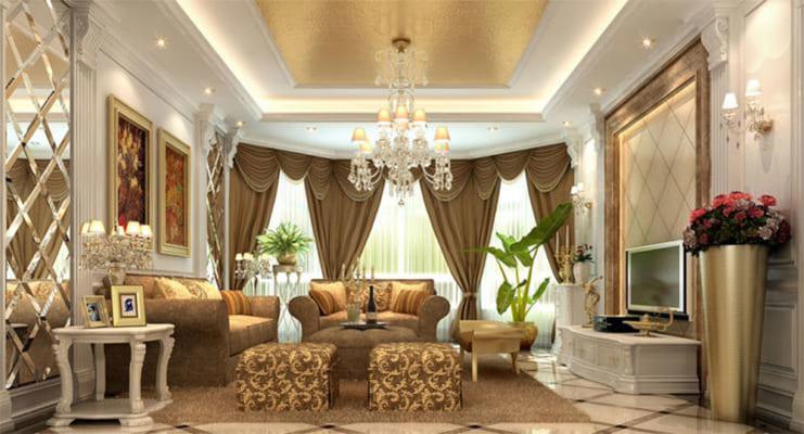Mẫu thiết kế nội thất chung cư theo phong cách cổ điển
